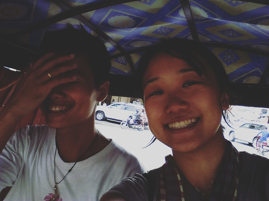 Porchhay and myself in Phnom Penh