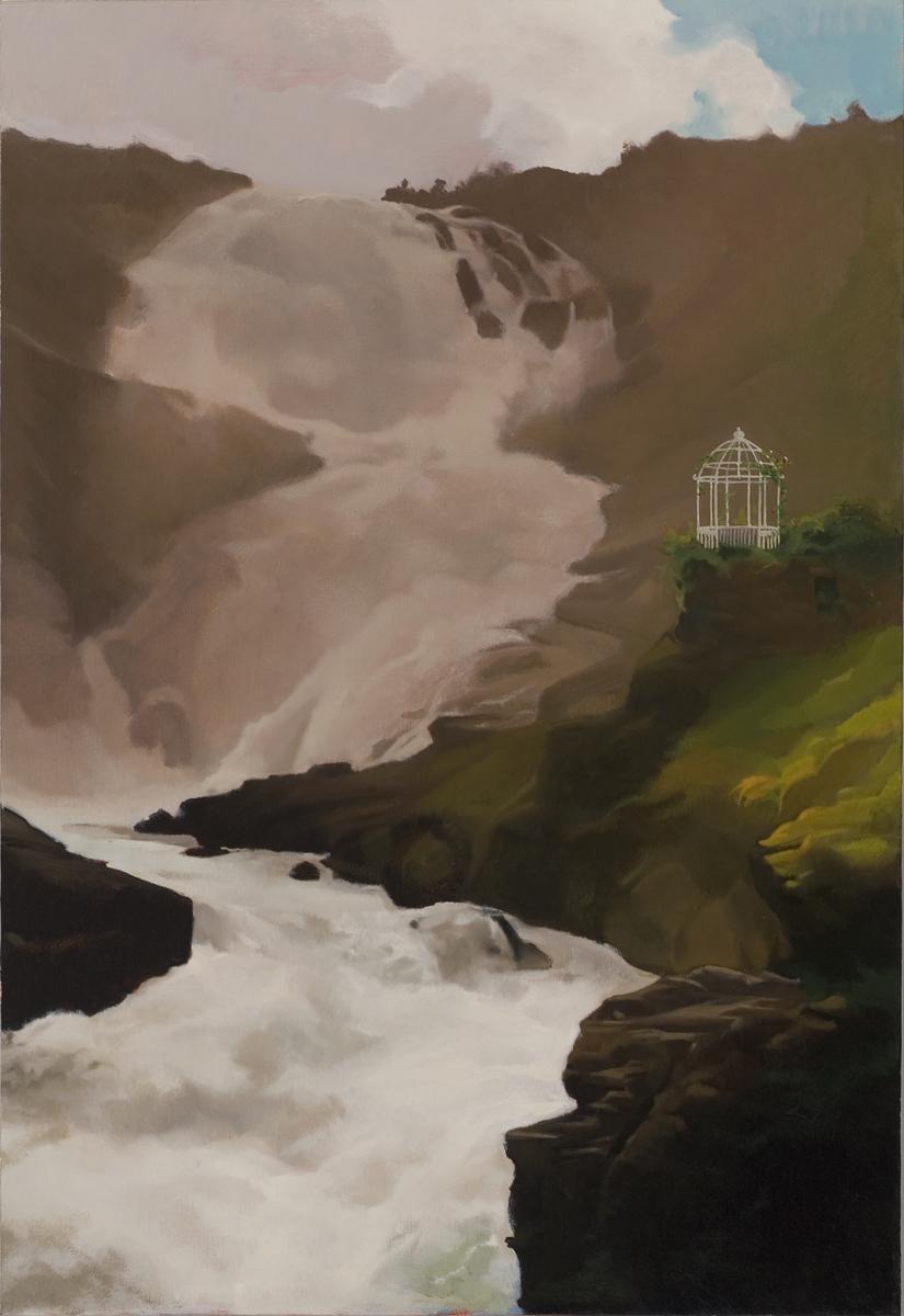 Gazebo and Waterfall
