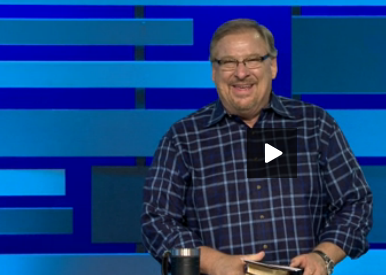 "Rick Warren gives a message, ""Getting Through Life's Losses: Sorrow"""