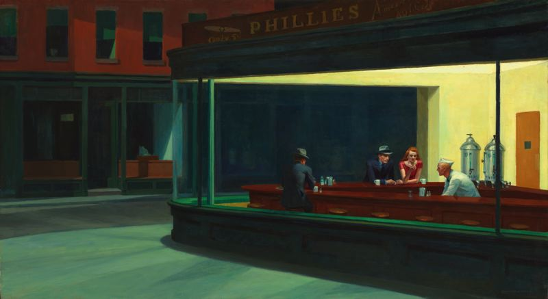 Edward Hopper,  Nighthawks , 1942.