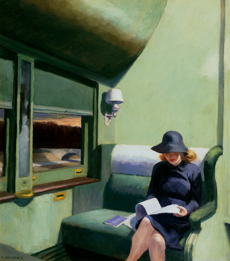 Edward Hopper,  Compartment C, Car 293 , 1938.