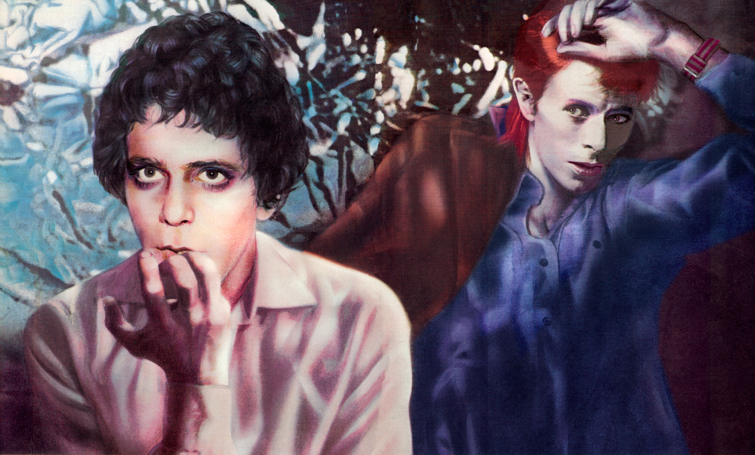 Lou Reed and David Bowie by Guy Peellaert, from  Rock Dreams (1970-1973).