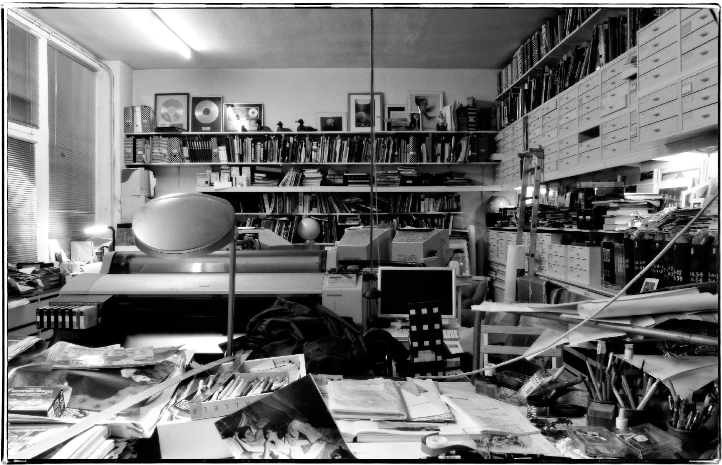 Guy Peellaert's Paris studio on rue de Charonne, photographed by Christian Sarramon,December 2008.