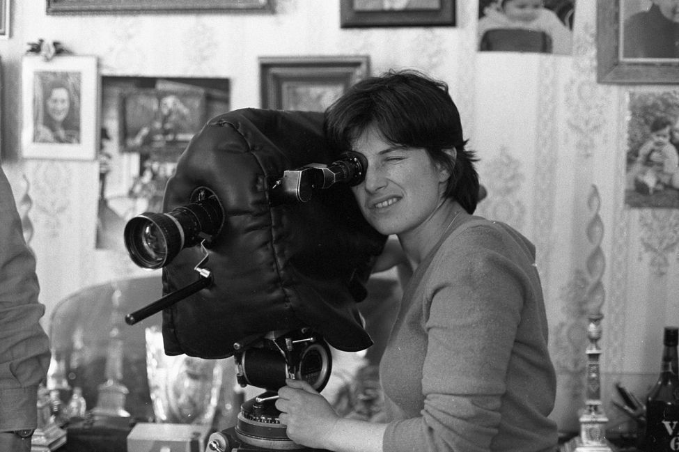 Chantal Akerman behind the camera in the 1970s