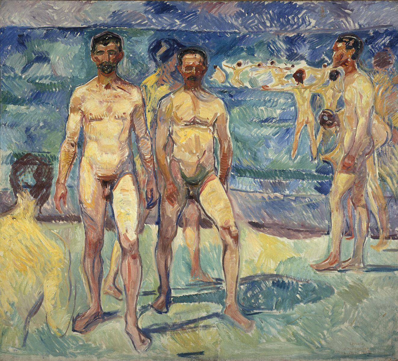 Edvard Munch's  Bathing Men , 1907-1908.