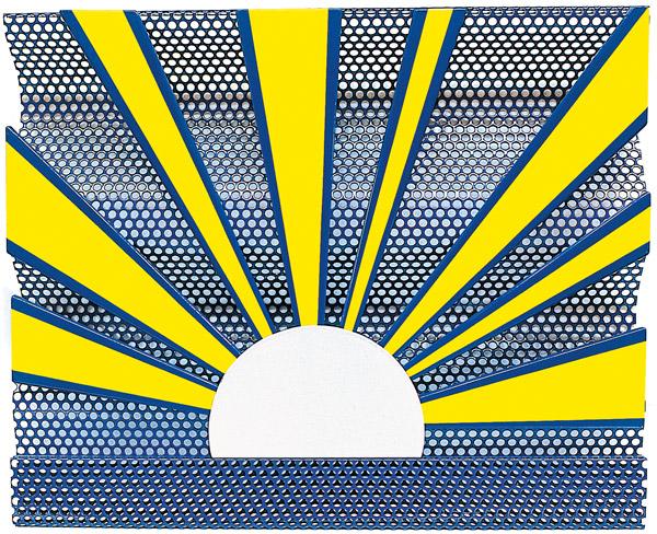 Roy Lichtenstein's  Sunrise , 1965.