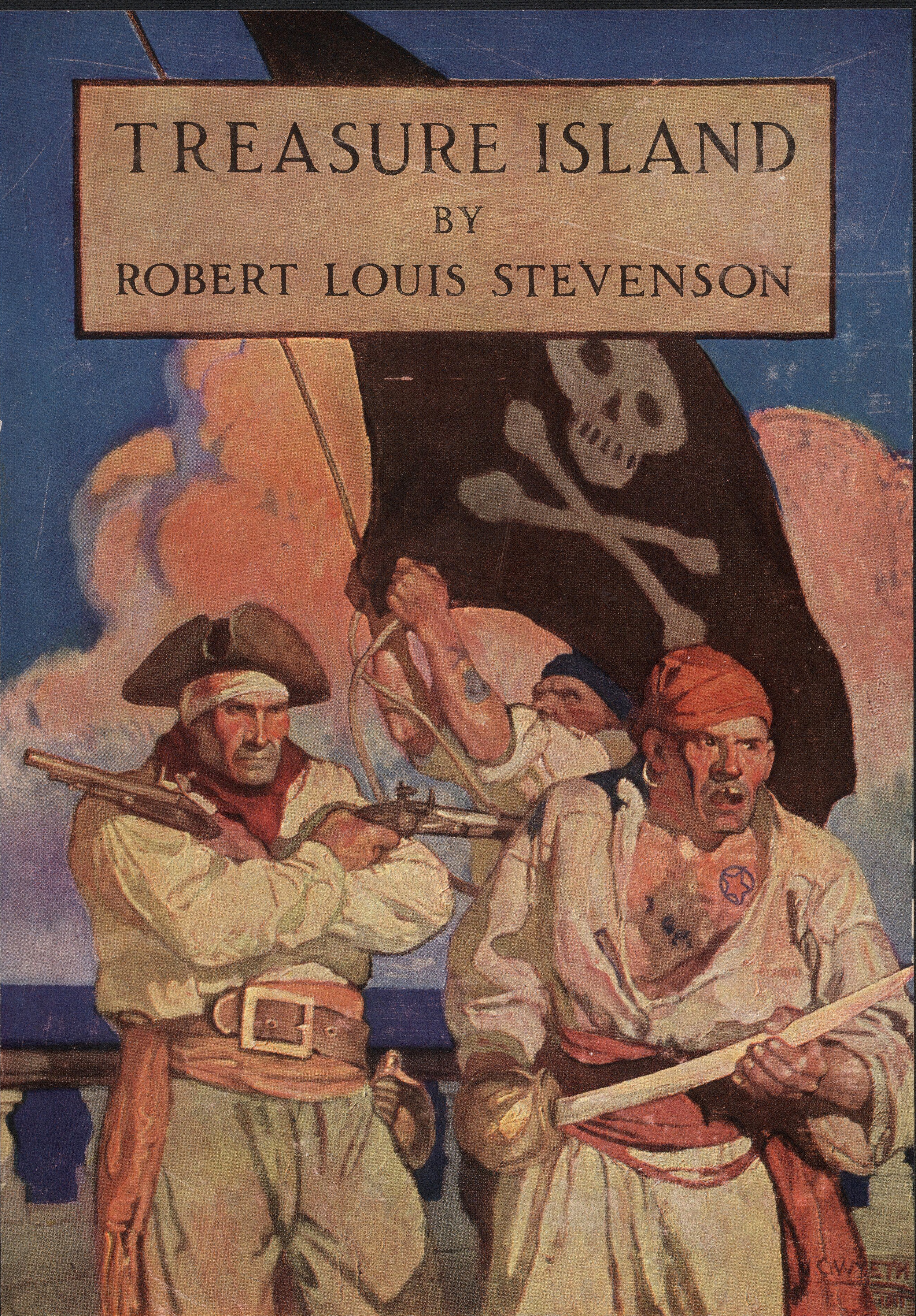A 1911 copy of Robert Louis Stevenson's  Treasure Island