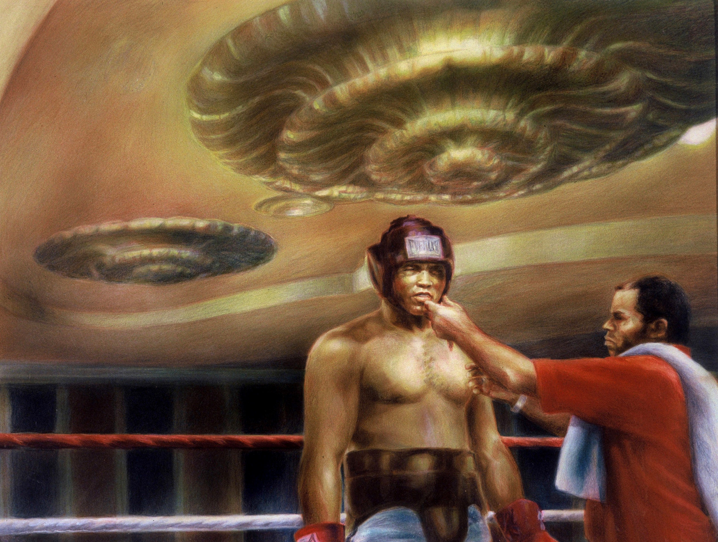 Muhammad Ali as depicted by Guy Peellaert in  Caesars Palace  (1985) from the  Las Vegas, The Big Room  series (1976-1986)