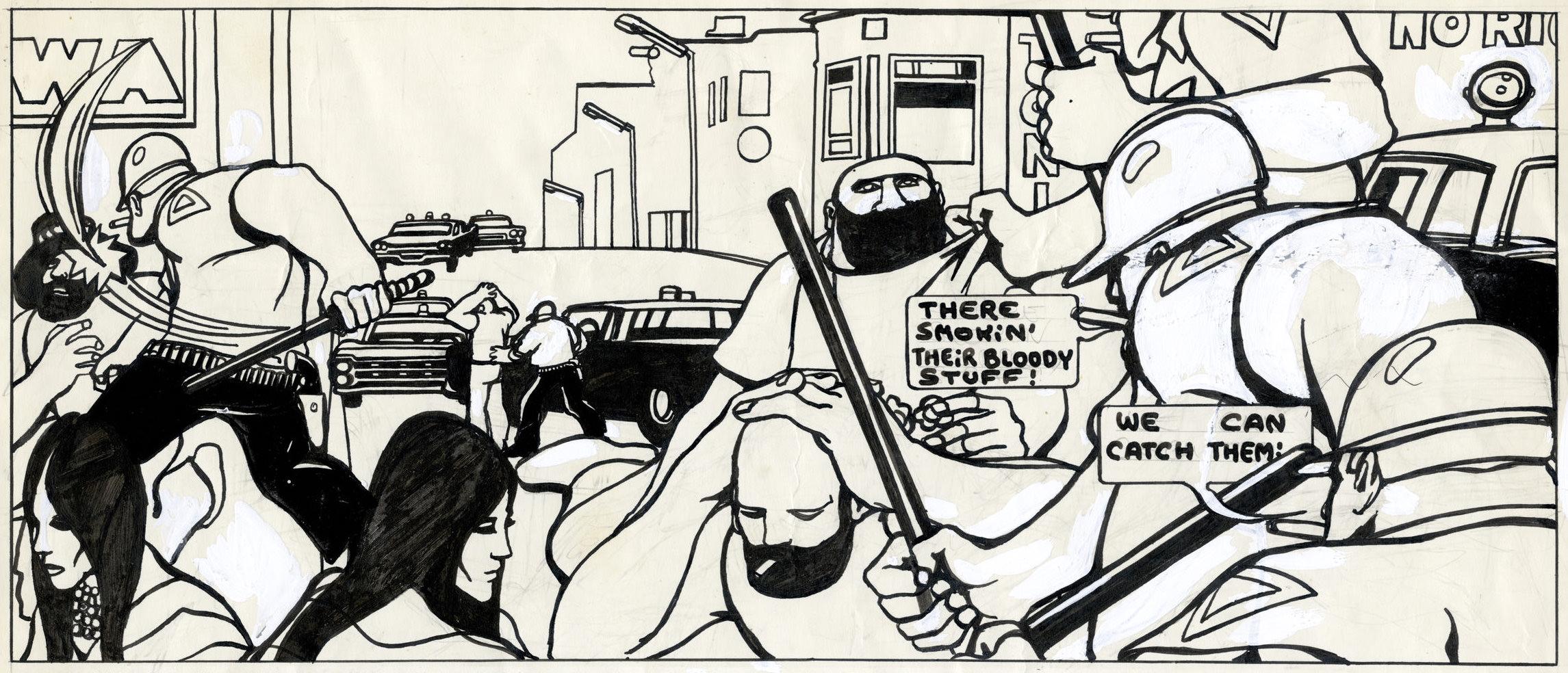 Guy Peellaert.  Pravda La Survireuse , detail from panel 50 (1967)