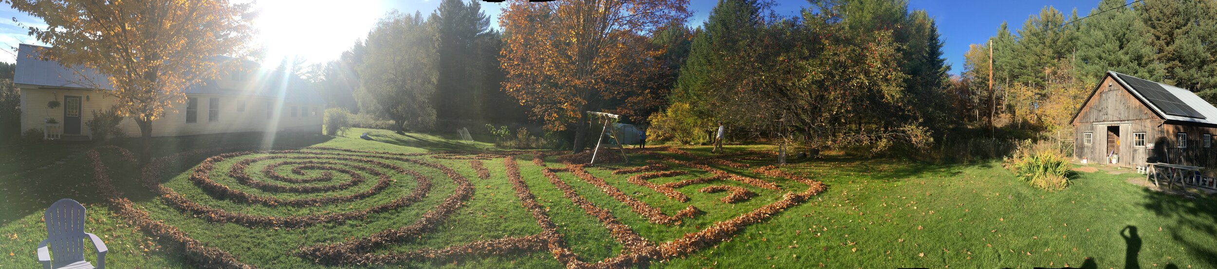 Leaf maze… a favorite fall tradition.