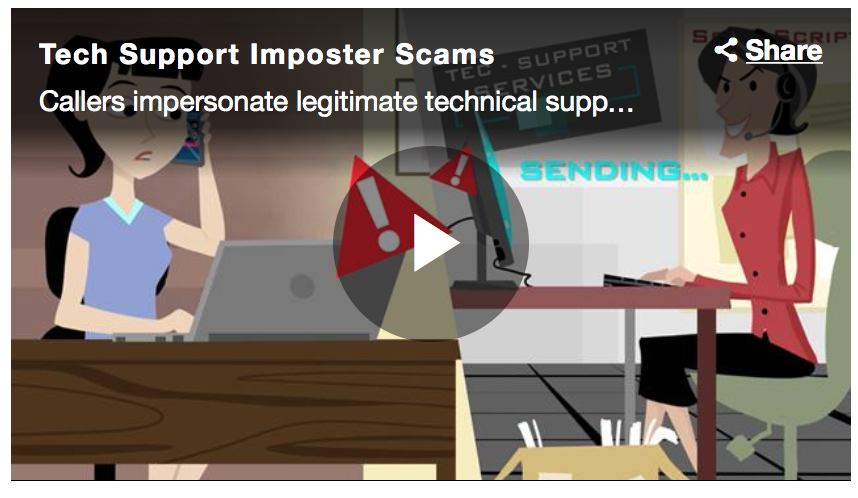 via the  FTC Tech Support Scams | Consumer Info website