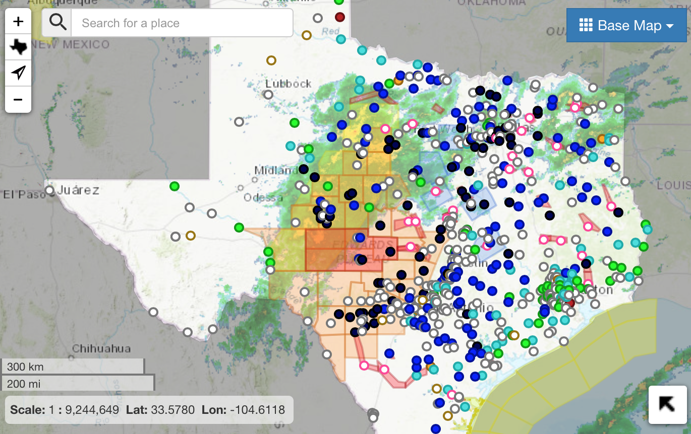 from  USGS Texas Water Dashboard