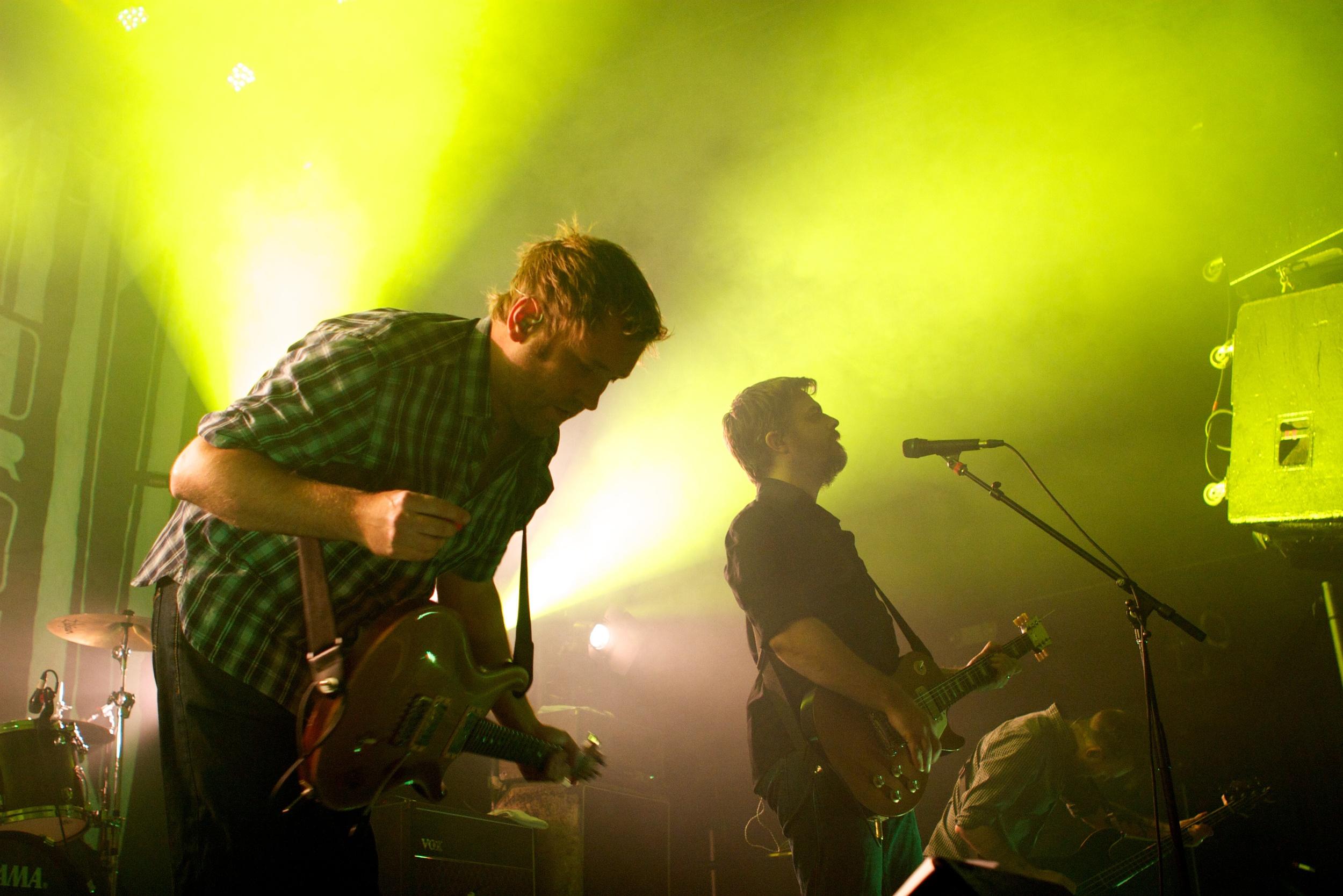 Minus The Bear rocking the Summit Music Hall crowd (Photo Credit: Matt Smith)