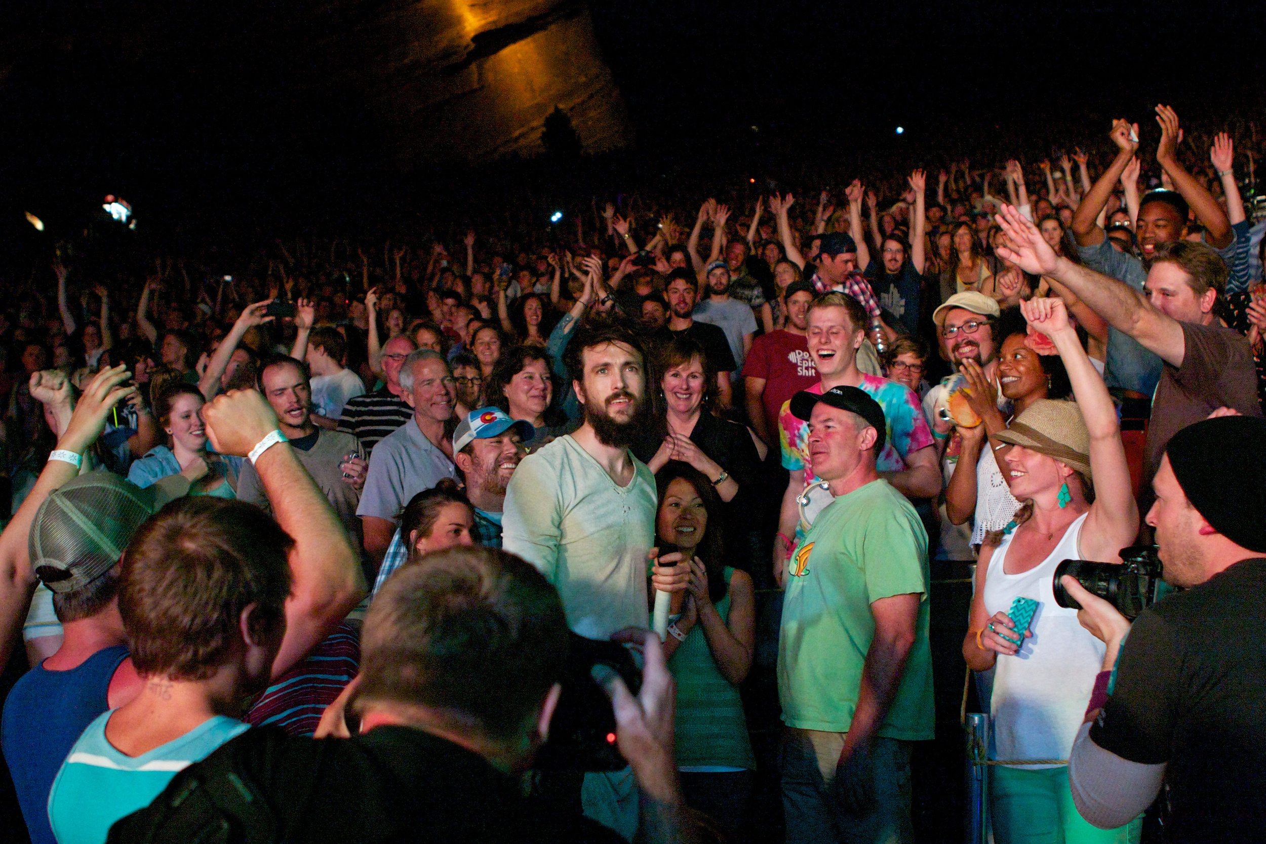 Mixing it with the crowd (Photo Credit: Matt Smith)