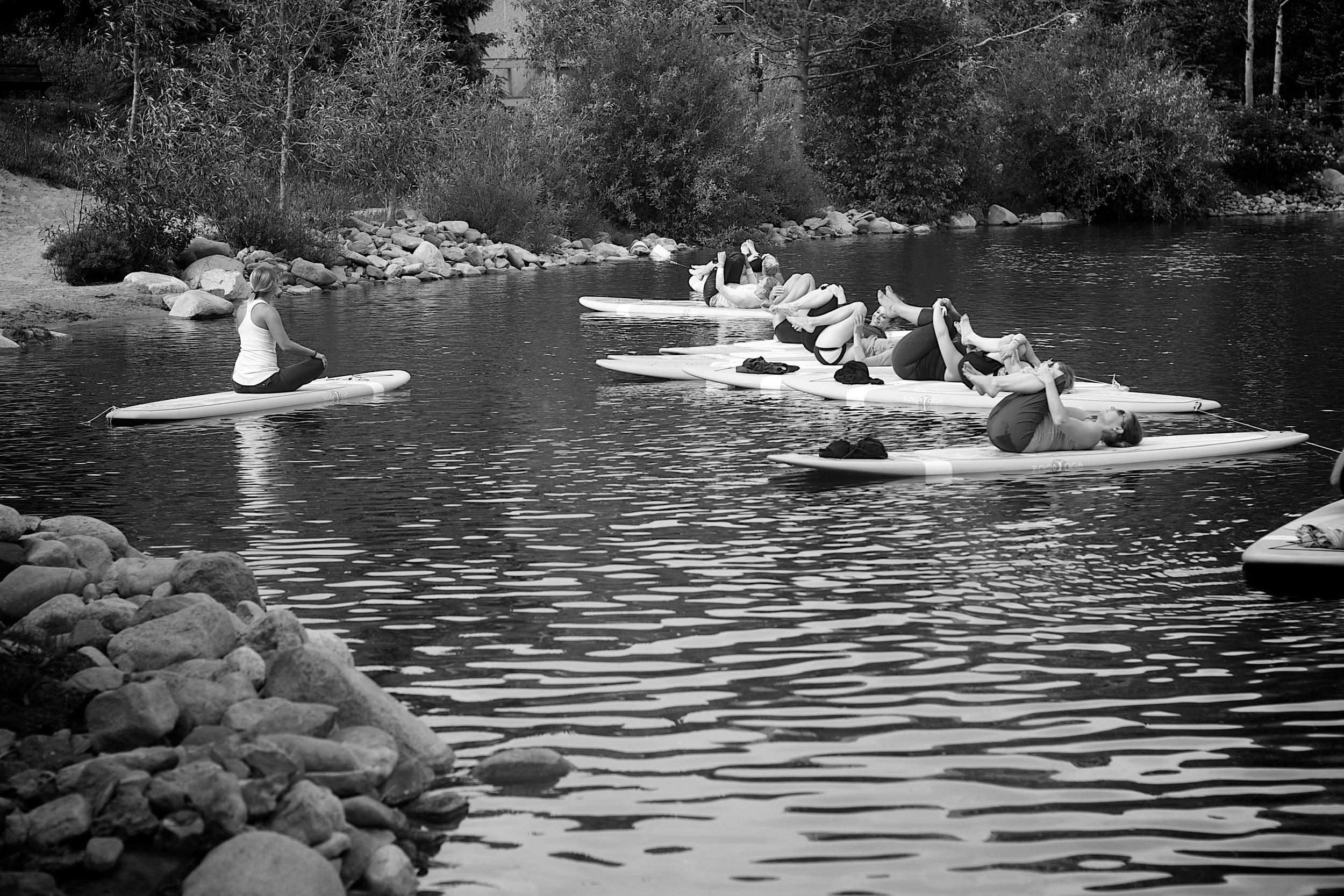 Paddle Board Yoga (Photo Credit: Amanda Spilos)