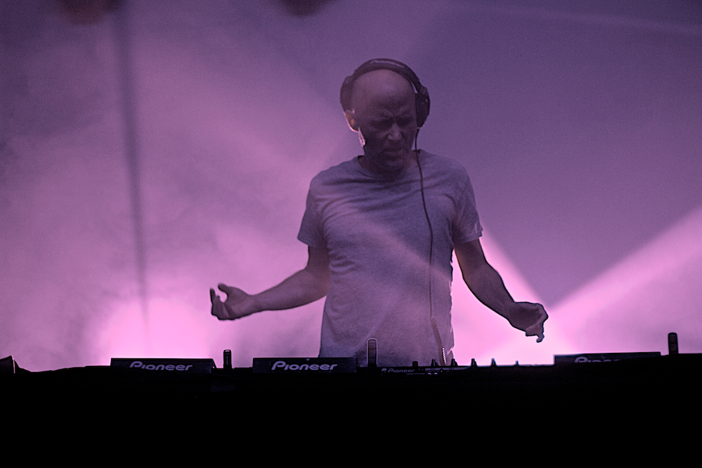 Moby rockin' the decks (Photo Credit: Kelly Perry)