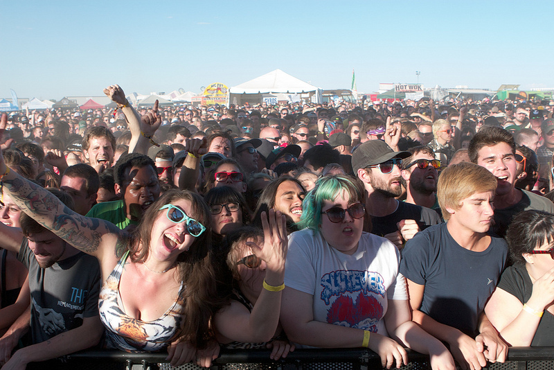 Crowds braved dust storms all for the love of punk rock (Photo Credit: Matt Smith)