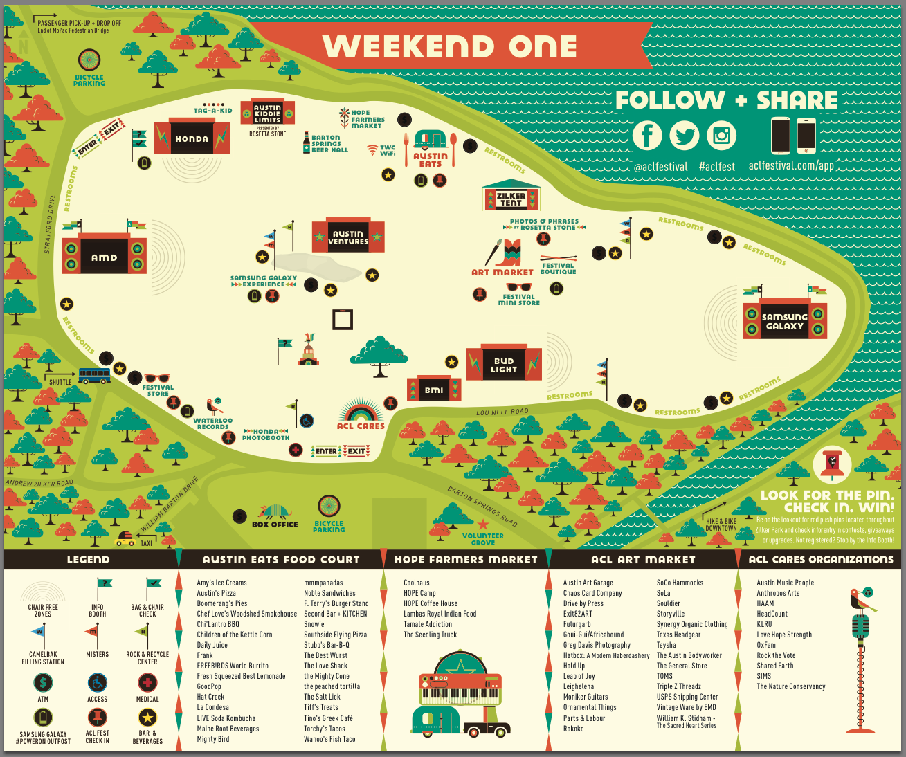 ACL Weekend One Festival Map