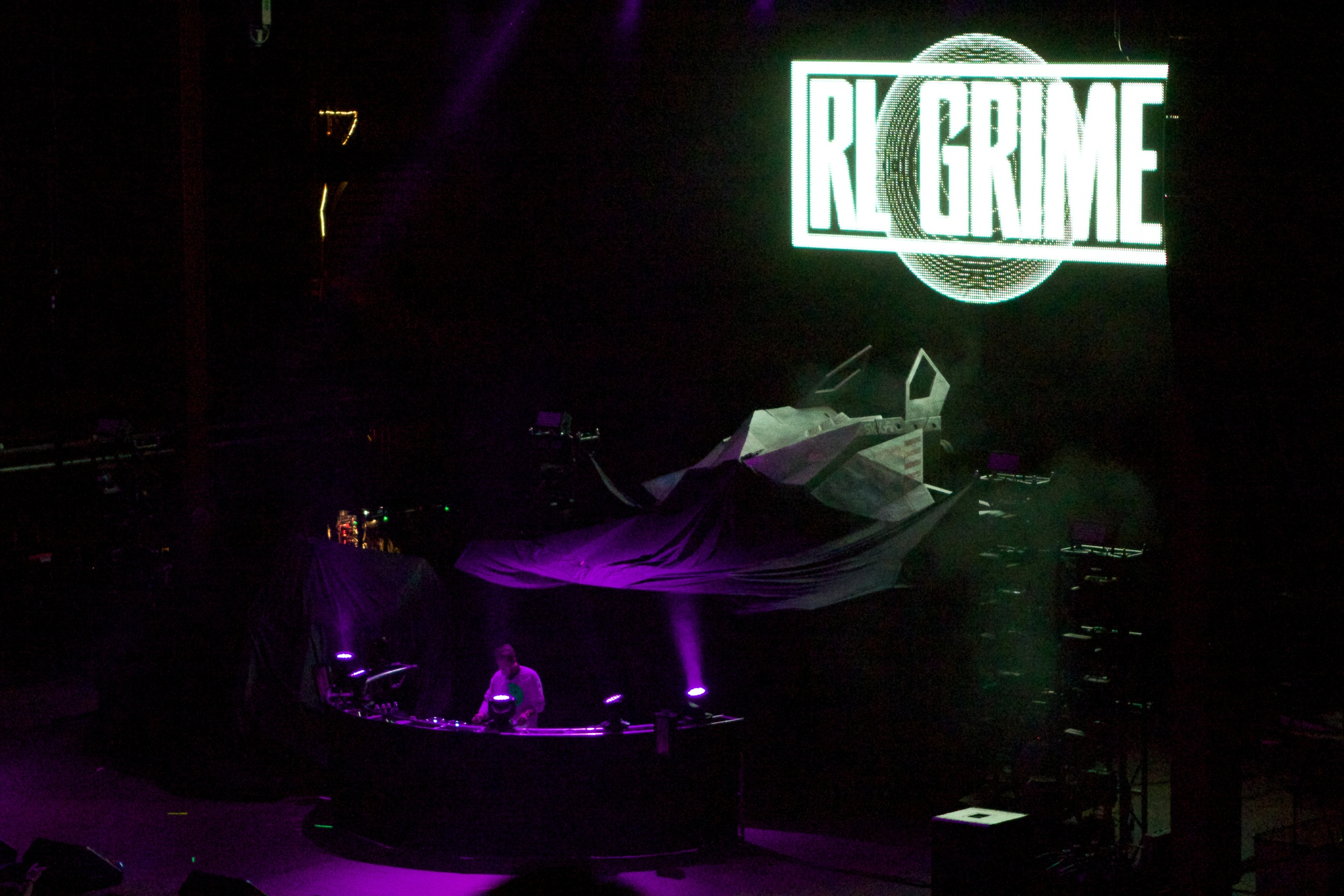 RL Grime laying into a rather impressive set (Photo Credit: Robert Castro)
