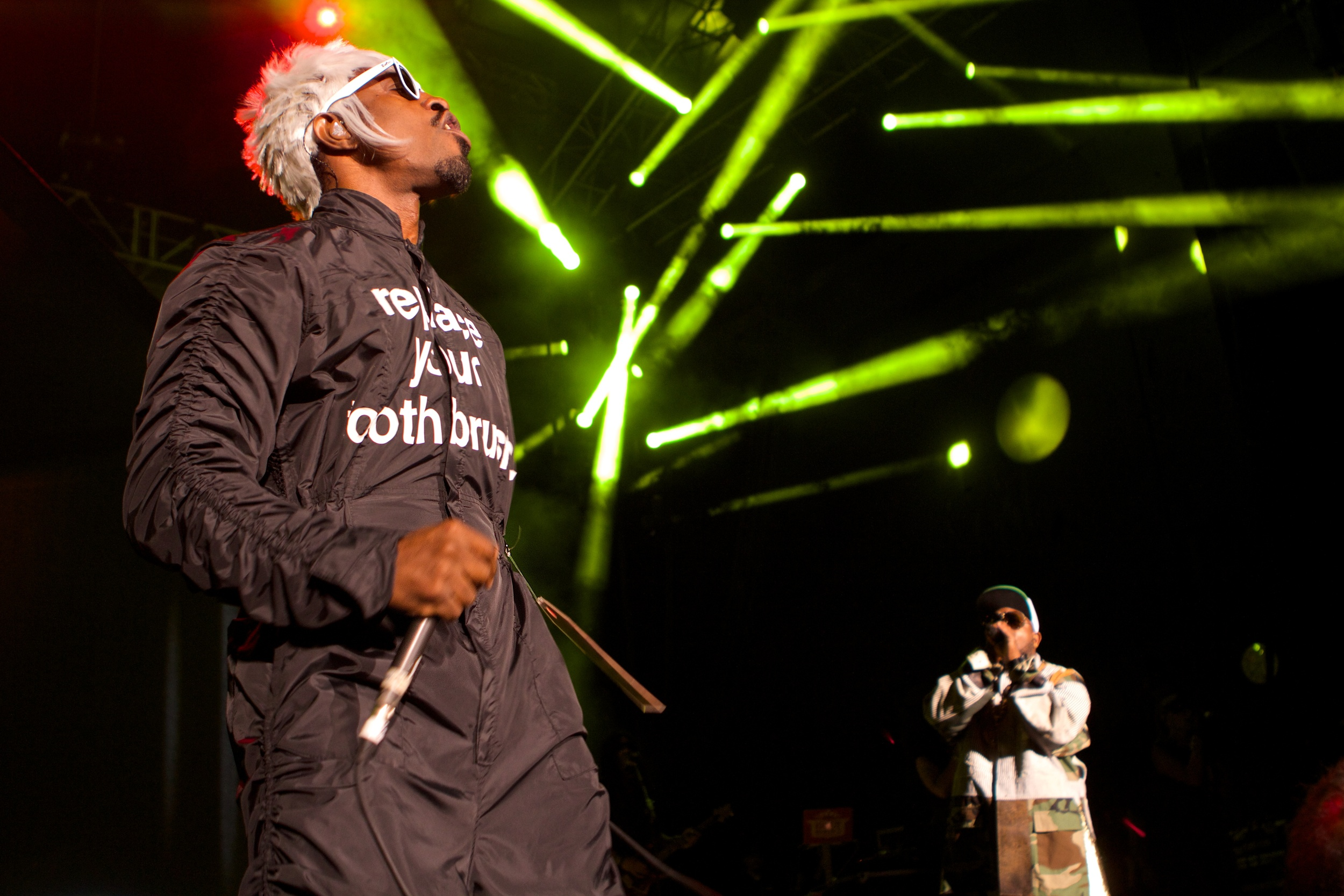 Andre 3000 and Big Boi capped off an awesome night of music (Photo Credit: Robert Castro)