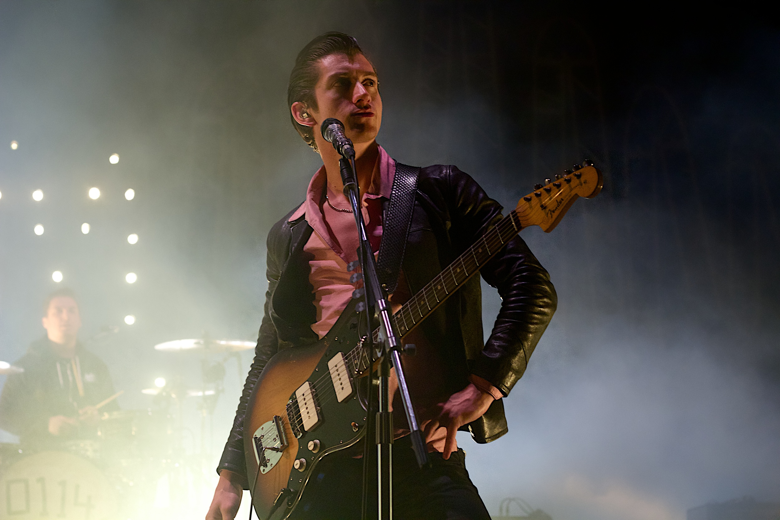 Alex Turner being wowed by the awesomeness of Red Rocks (Photo Credit: Robert Castro)