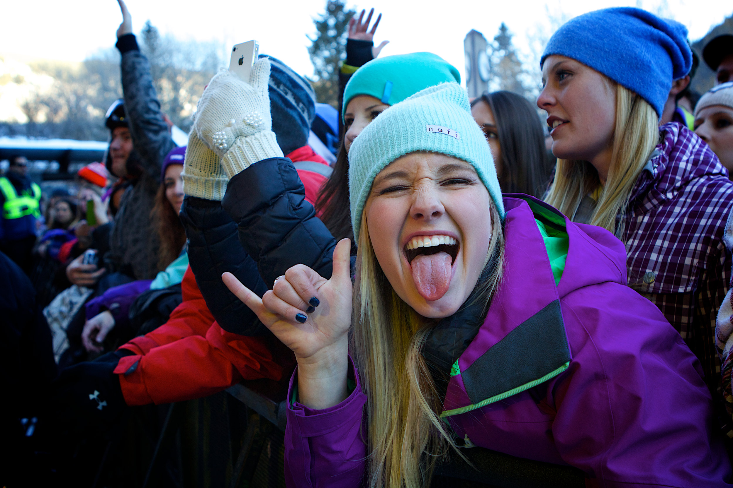 Jubilant fans enjoy some of the sights and sounds during X Games in Aspen, Colorado