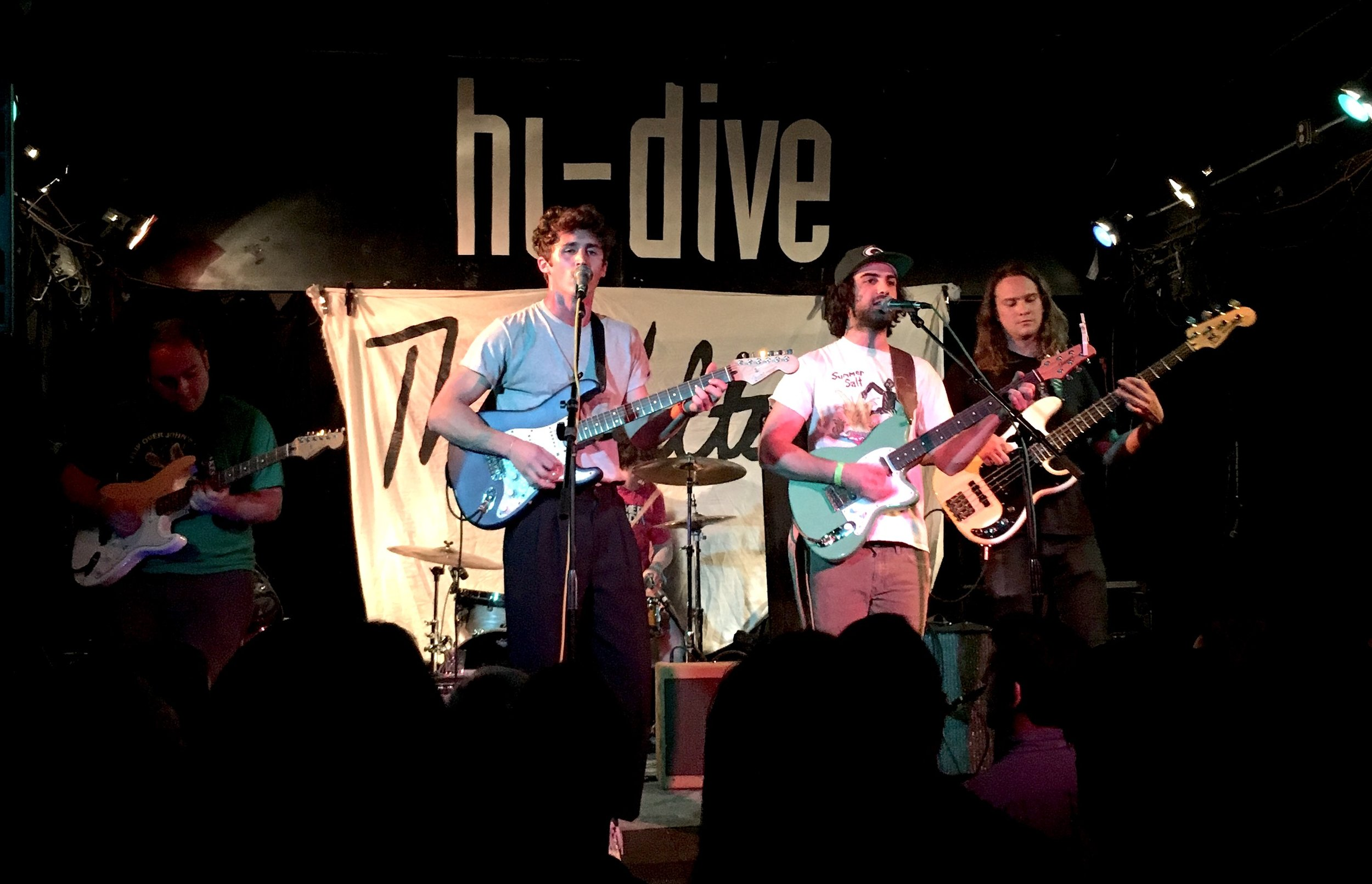 The Walters performing New Shoes during their Hi-dive set.  Photo: Jocelyn Rockhold