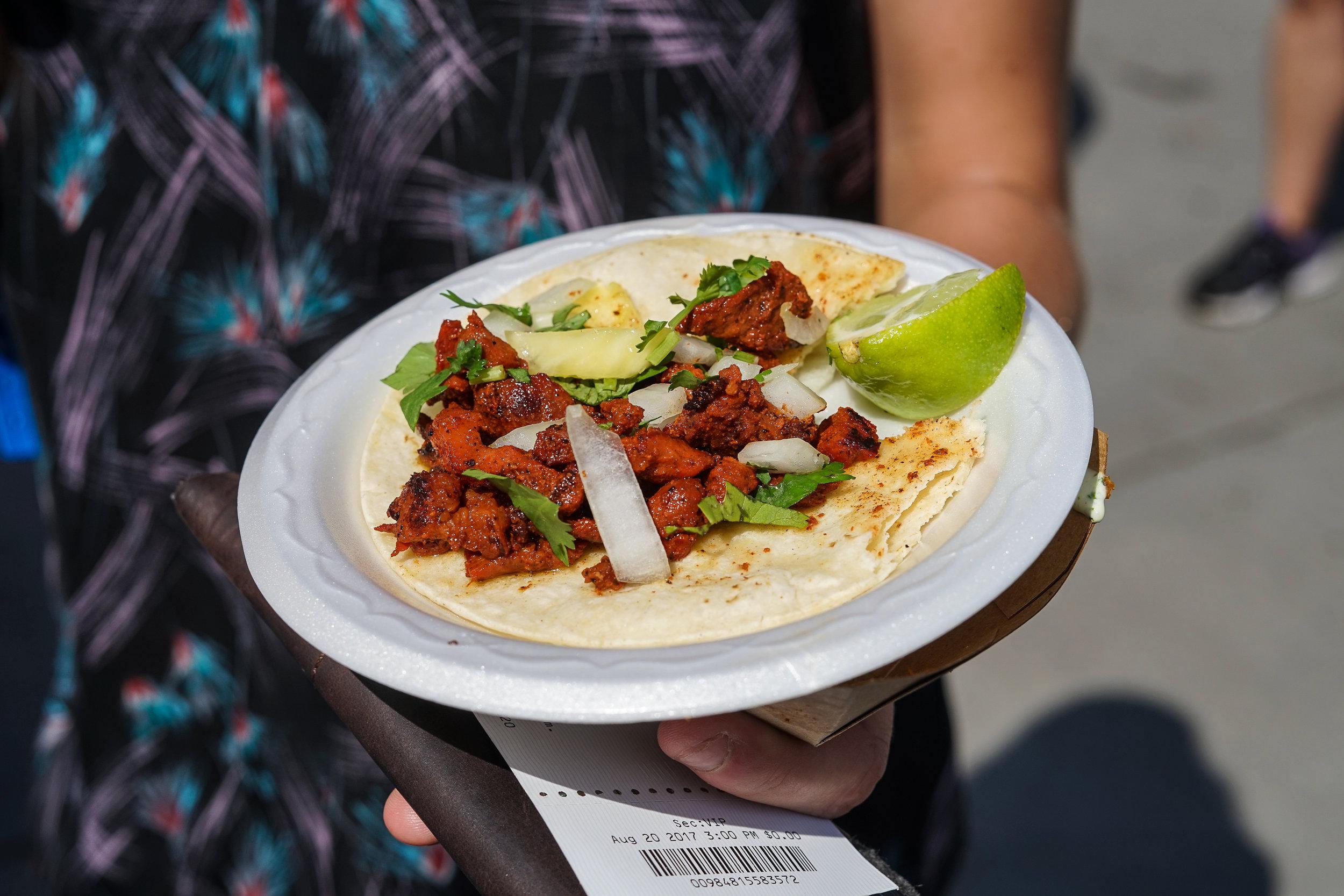 One of the many tasty tacos at Tacolandia. (Photo Credit: Robert Castro)