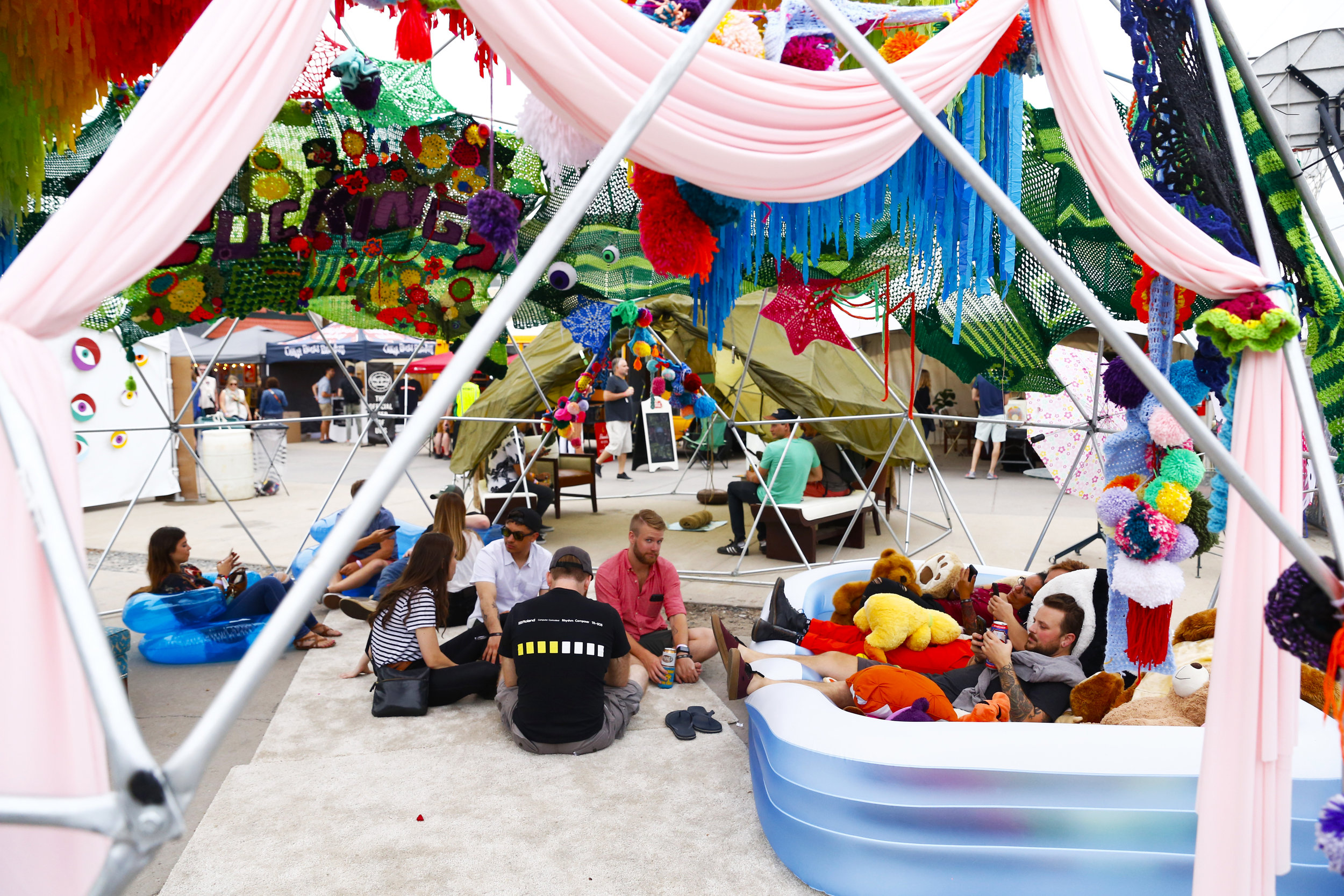 The Imagination Stage provided with some adequate amenities during the fest. (Photo Credit: Aly McClaran)