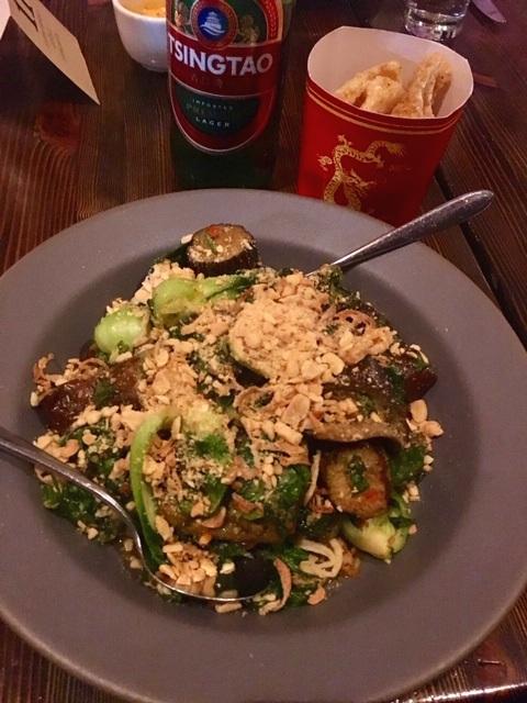 Steven Redzikowski's (OAK) Thai Eggplant & Bok Choy & Chicharrones