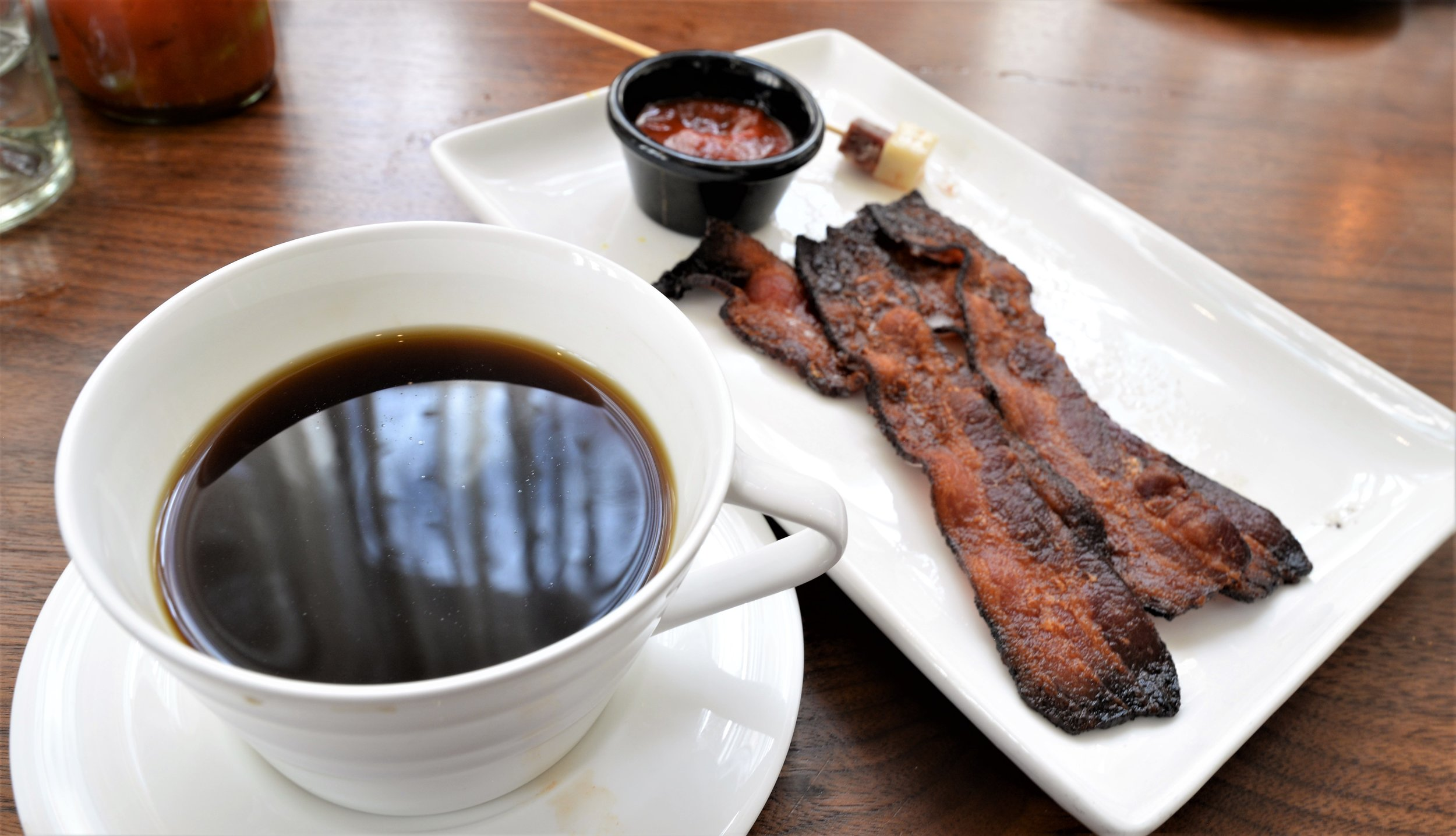 Coda coffee & side of bacon.