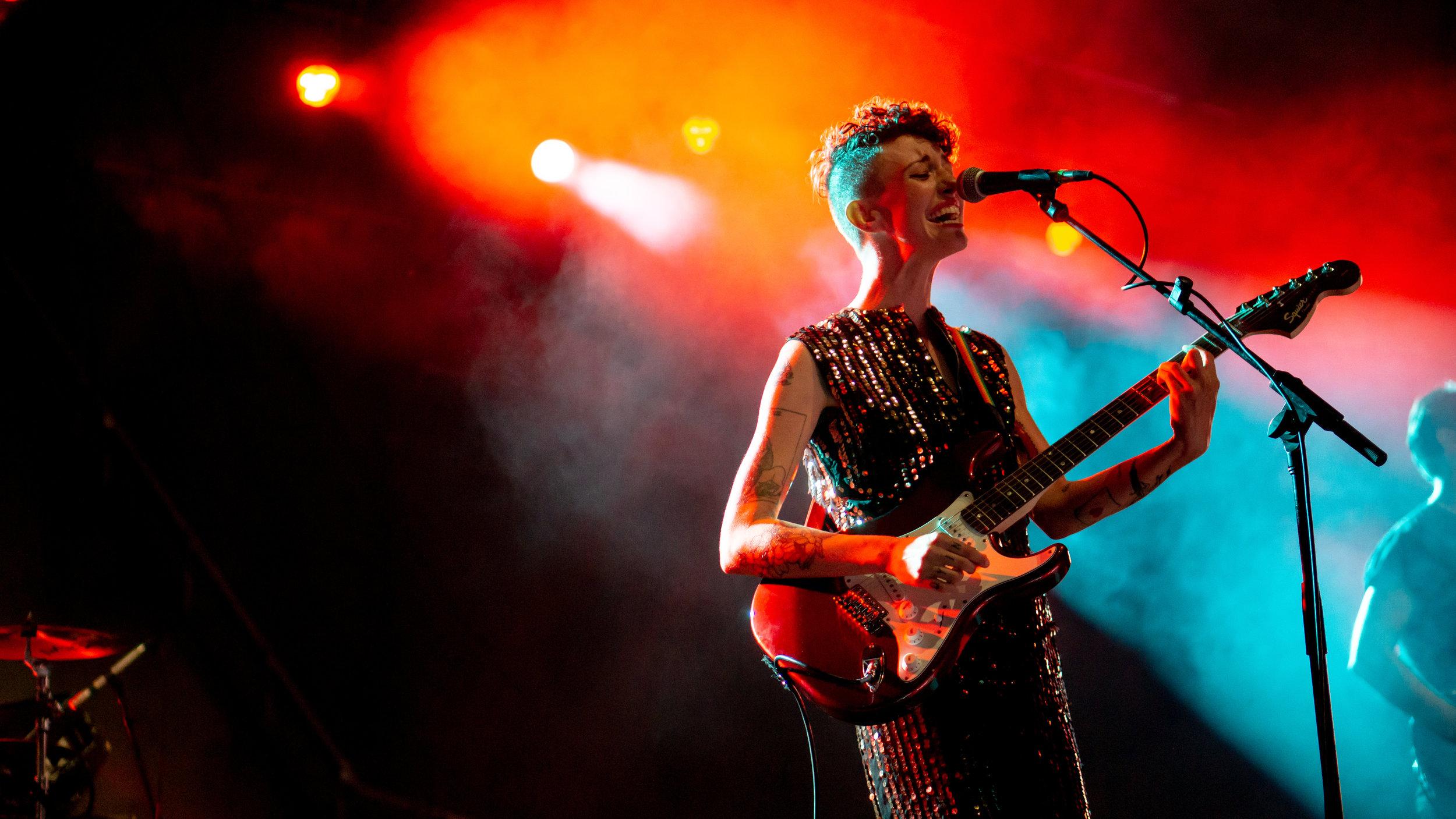 Esme Patterson performing at Levitt Pavilion. (Photo courtesy: Joel Rekiel)