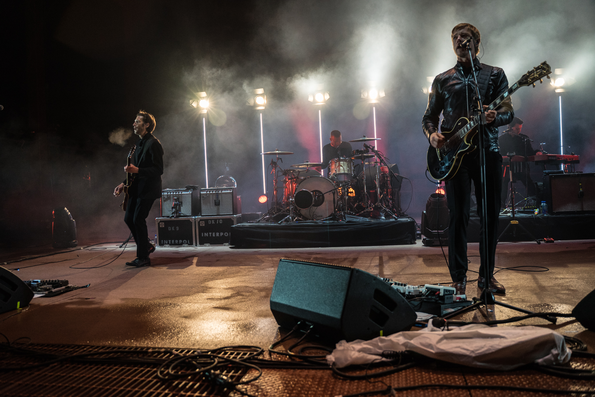 Cold and frigid conditions didn't stop Interpol in their Red Rocks debut. (Photo Credit: Robert Castro)