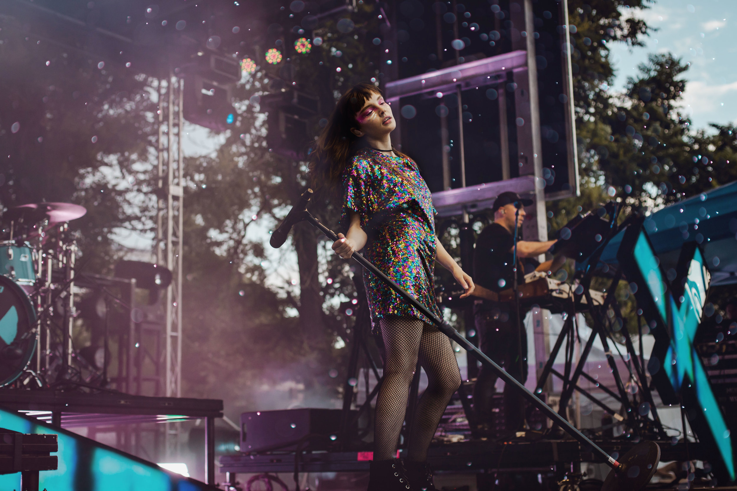 The elegant and dazzling Lauren Mayberry of CHVRCHES. (Photo Credit: Kate Rose)