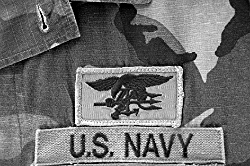 US Navy SEAL badge once worn by Intrepid agent Dave Sutherland.