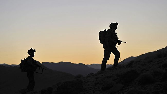 Australian troops soldiering in Afghanistan. Photo: Australian Department of Defence