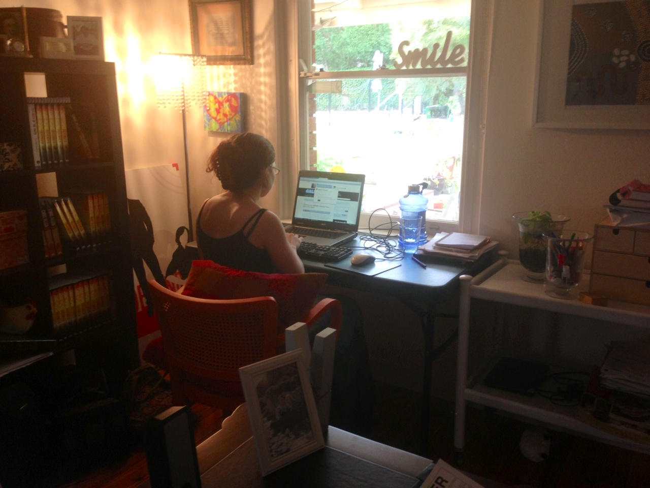 Julie aka JAG the superstar intern gets busy writing up a storm!