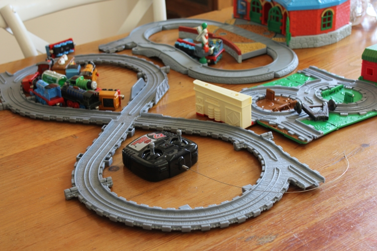 It's not a real day at our place unless the trains are out in full force.