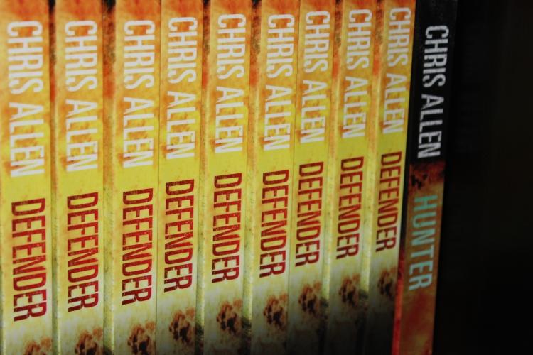Defender and Hunter by action thriller writer Chris Allen.