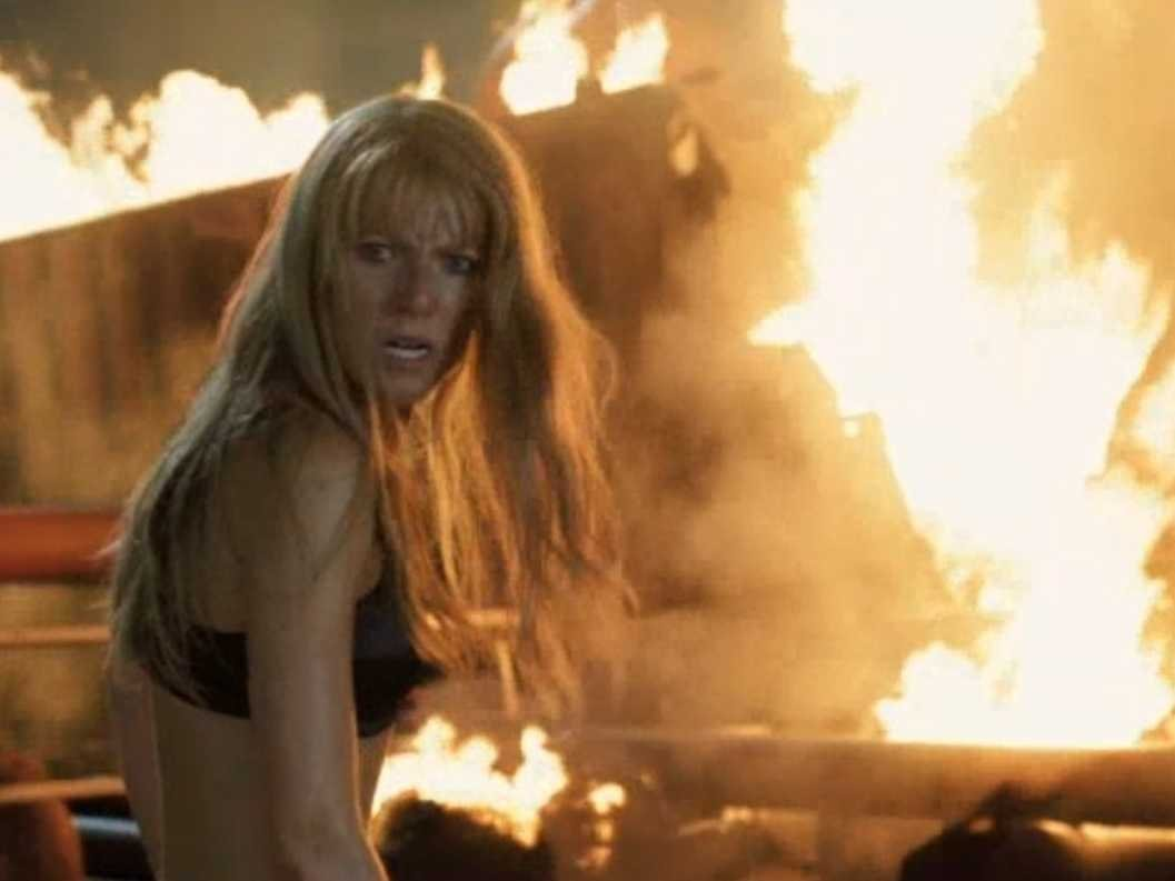 Gwyneth Paltrow as a fiesty, intelligent Pepper Potts in Iron Man 3.