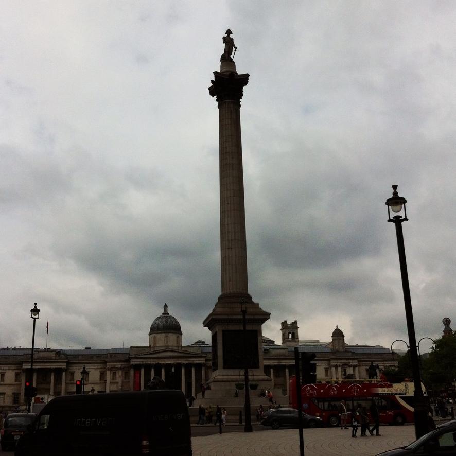 My favourite landmark in London: Nelson's Column, Trafalgar Square.