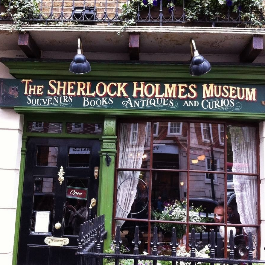 At the Sherlock Holmes museum. Unfortunately there was a line of 250 people down the street waiting to get in, so I saw it from the outside only.