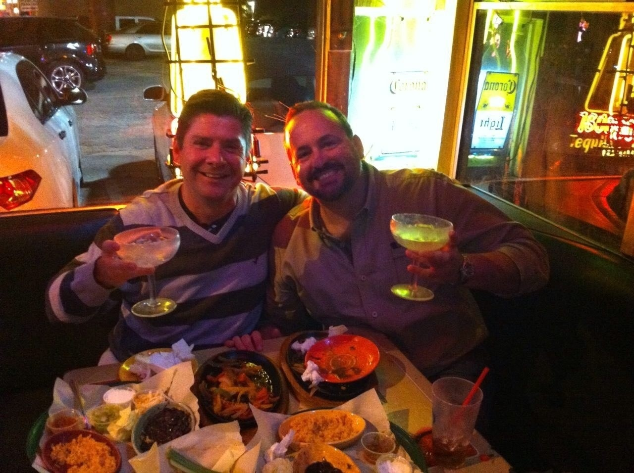 Fajitas and Margaritas with my brother-in-arms from Paratrooping days and hugely successful fellow creative capitalist, Bradley Trevor Greive. If you haven't checked out his work yet,  do so here .