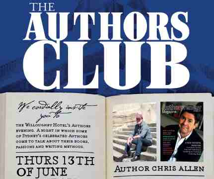 Popular thriller and espionage author Chris Allen appears at the Authors Club at Willoughby Hotel on June 13.