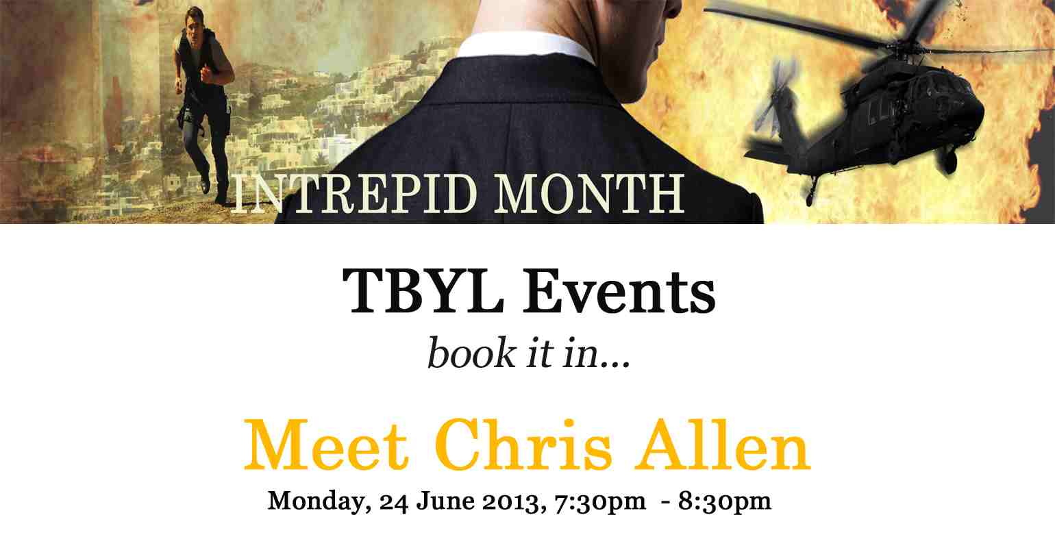 Meet Chris Allen during a Facebook Chat at That Book You Like's Intrepid Month!