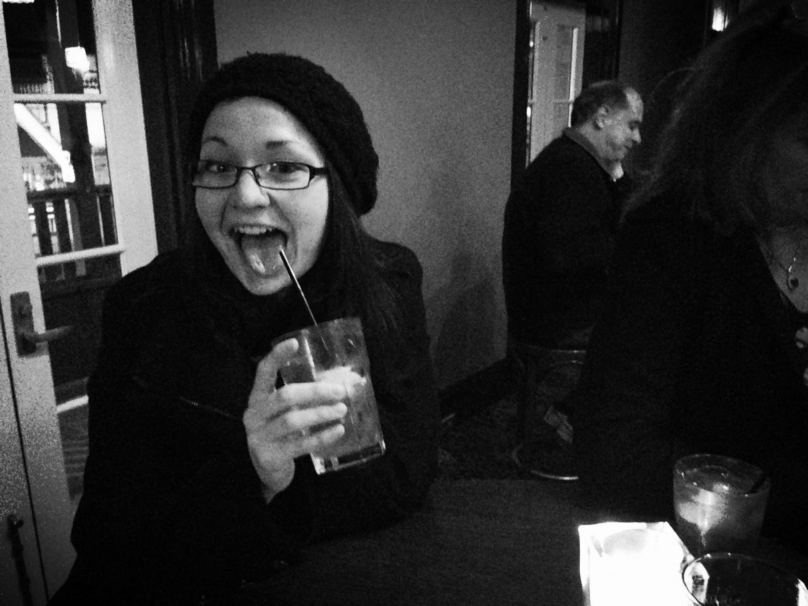 Super intern Julie Green tests out the Malfajiri Sunset cocktail.