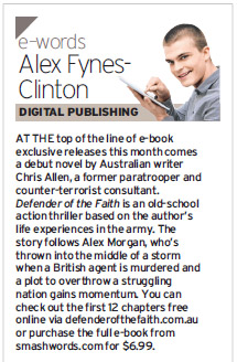 Defender mentioned in Courier Mail eWords round up on digital publishing.