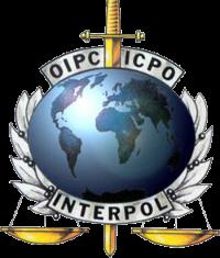 Interpol logo - Intrepid is the sword of Interpol.