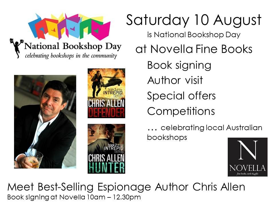 Author appearance at Novella Fine Books Wahroonga