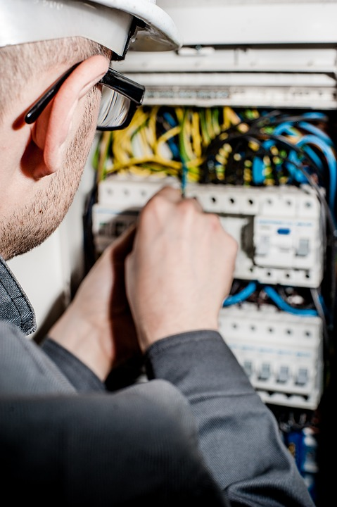 Electrician at work in Colorado Springs CO